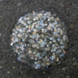 Glitterstenen markering oude stadswal