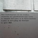 Markering inslag Canadese Tankgranaat