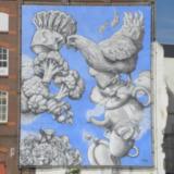 Muurschildering Wolkenfabriek