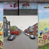 Mozaïekproject fietsviaduct (2 delen)
