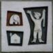 Gevelstenen met jongetje, olifant en huis (7 exemplaren) -   maker onbekend